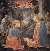 Fra Filippo Lippi The Adoration of the Infant jesus oil painting picture wholesale